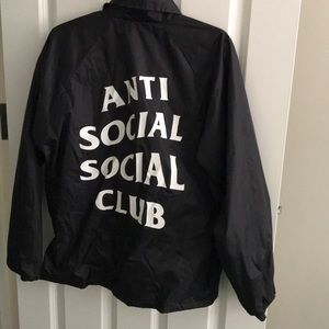 Anti social social club bomber jacket